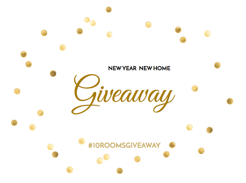 10 Rooms Design | New Year new Home Giveaway | Header