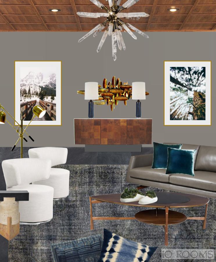 10 Rooms Design | Inspiration Board | Elements of the Modern cabin | Design Board